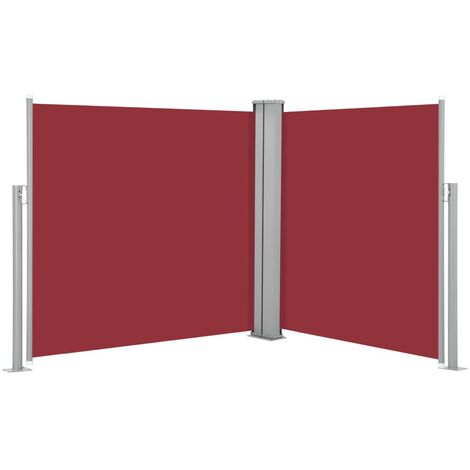 Retractable Side Awning Red 100x600 cm