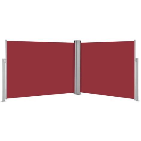 Retractable Side Awning Red 140x1000 cm