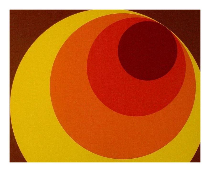 Retro 70s Big Circle Wallpaper Brown Orange Yellow Paste