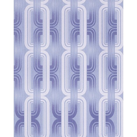 Retro 70s style wallpaper wall EDEM 038-22 graphical pattern pastel-blue lilac blue white glitter 5.33 sqm (57 sq ft)