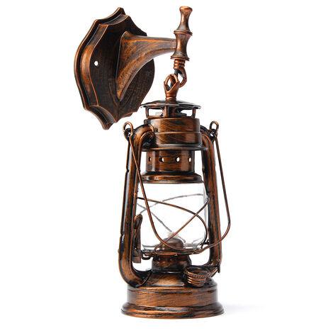"""main image of """"Rétro Antique Vintage Lanterne Rustique Lampe Applique Murale Luminaire Extérieur E27 (Or, Applique Type C)"""""""