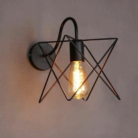 Rétro Applique Murale Industrielle Luminaire en Cage Cube Eclairage ...