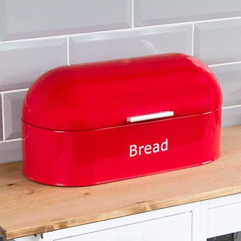 Retro Bread Bin, Red