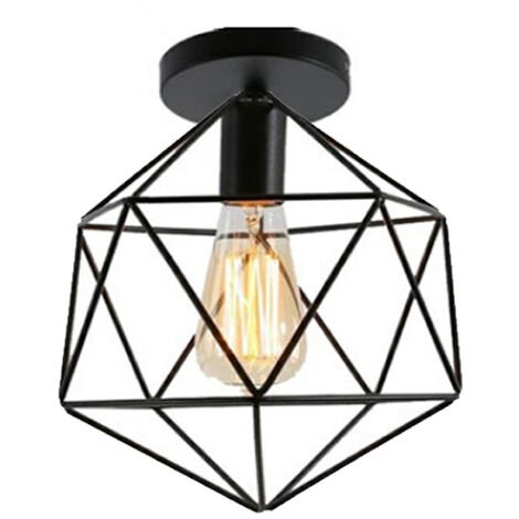 Retro Ceiling Lamp Vintage Chandelier Industrial Ceiling Light Iron Metal Cage Ceiling Light for Cafe Living Room Kitchen Hallway