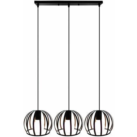Retro Chandelier Creative Industrial Antique Pendant Light Vintage Style Hanging Light Easy Installation Pendant Lamp Metal Iron Ceiling Light - Black E27