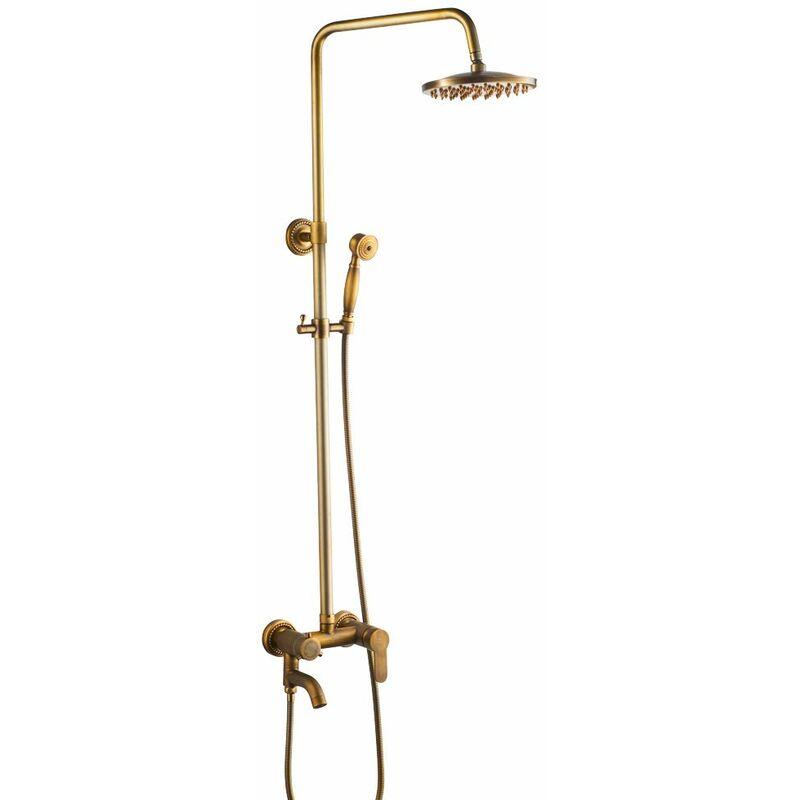 R/étro Noir Bronze r/églable /à fixation murale 20,3/cm rond de salle de bain Pomme de douche