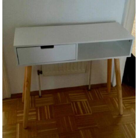 Retro Computer Desk Vintage Scandinavian Furniture Small Writing Table PC