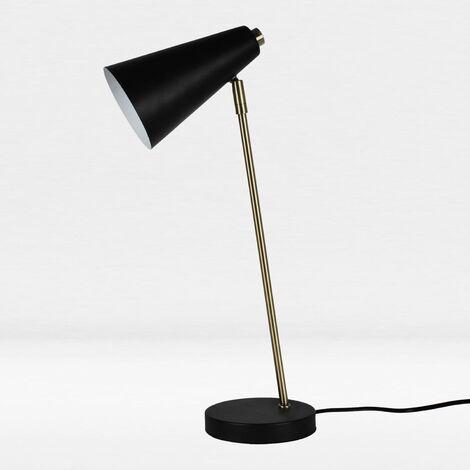 Retro Contemporary Adjustable Desk Task Lamps Bedside Lights Chrome Copper Black