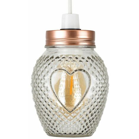Vintage Retro Lampshades Glass Jar Ceiling Pendant Light Lamp Shade Retro Style