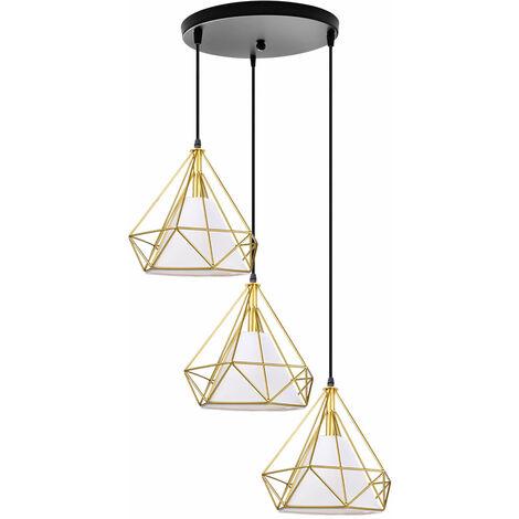 Retro Industrial Ceiling Light 3 Lamp Holders Retro Pendant Light Vintage Hanging Light 25CM Cage Pendant Lamp