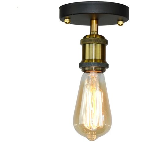 Retro Industrial Ceiling Light E27 Simple Ceiling Lamp Vintage Chandelier for Living Room Bedroom Hallway