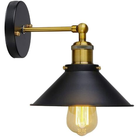 """main image of """"Retro Industrial Style Wall Light Adjustable Brass Finish Vintage Wall Light for Home Decor, Restaurants, Cafe (110-220V, E27 Socket, Bulbs not included)"""""""