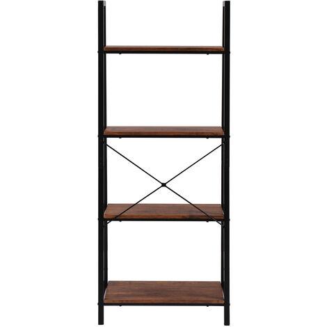 retro ladder shelf, bookcase, metal frame shelf, living room plant and flower storage rack shelves