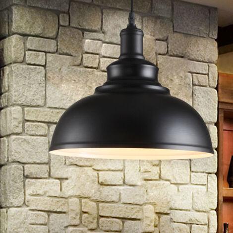 Retro Lámpara Colgante Vintage Industrial de 300mm?Lámpara de Techo de Hierro Iluminación E27 Decoración para Sala de estar Cocina Restaurante Bar