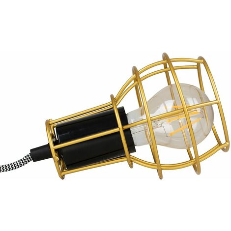 Retro Metal Basket Cage Bedside Table Lamp