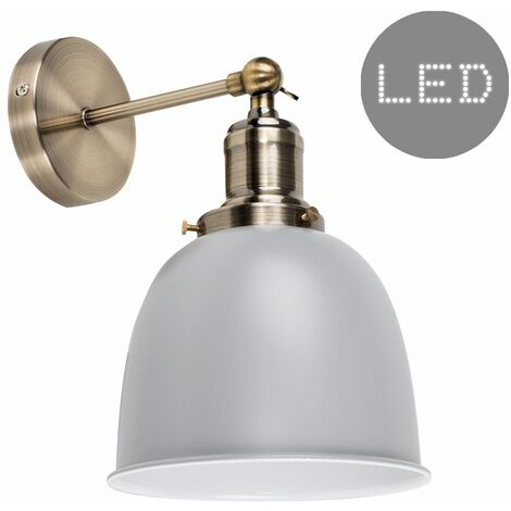 Retro Pendant Ceiling Light Fitting with a Dome Shade - 4w LED Filament Bulb