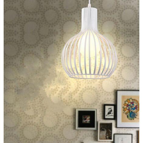 Retro Pendant Light 3 Lamp Holders Vintage Hanging Light Antique Chandelier White Industrial Ceiling Lamp E27 Creative Pendant Lamp