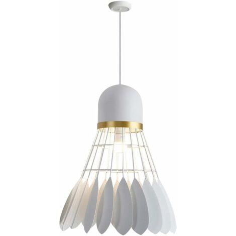 Retro Pendant Light Creative Badminton Hanging Light Metal Industrial Ceiling Lamp for Bedroom Loft Bar Cafe White