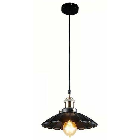 Retro Pendant Light Shade Vintage Industrial Ceiling Lighting LED E27 Base Restaurant Loft Black Lamp Shade Kitchen Coffee-Shop Chandelier