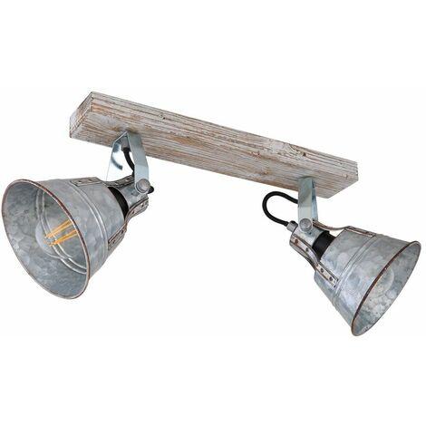 RETRO plafón spot de madera salón luz rail DIMMABLE en un conjunto con iluminación LED RGB