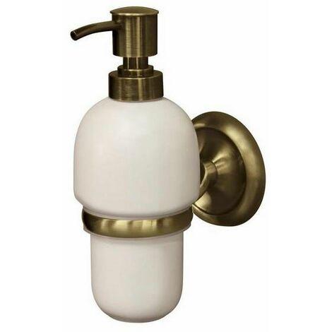 Retro salle de bains en laiton antique poignée murale + distributeur de  savon liquide en céramique