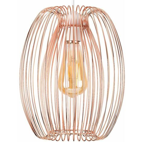 Style Copper Ceiling Pendant Light Shade - No Bulb