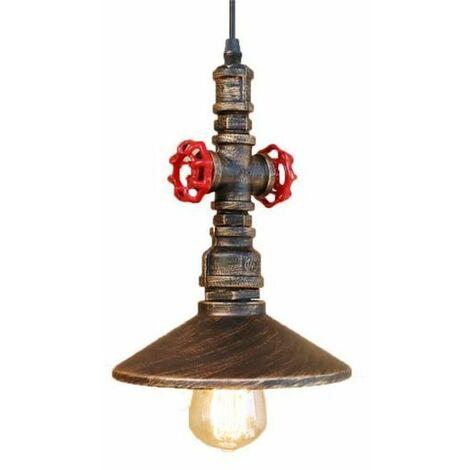 Rétro Suspension Lustre Industrielle Lampe de Plafond de Tuyau d'eau