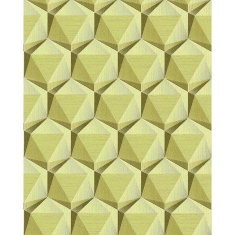 EDEM 1050-15 Retro Tapete Geometrisch glitzernd beige grün-beige oliv-grün
