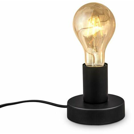 Retro Tischlampe Vintage Tischleuchte Dekolicht Wohnraum Flur Edison E27 schwarz