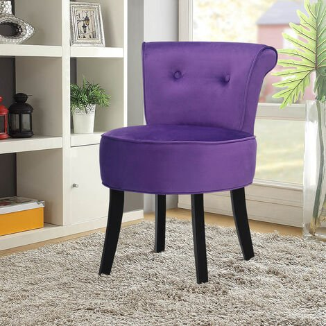 Retro Velvet Dressing Table Stool Footstool Bedroom Chair Vanity Makeup Stool