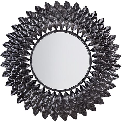 Retro Vintage Round Wall Mirror Ornate Living Room Hallway Decor Silver Larrau