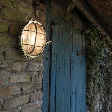 Retro wall lamp chrome IP44 - Nautica round
