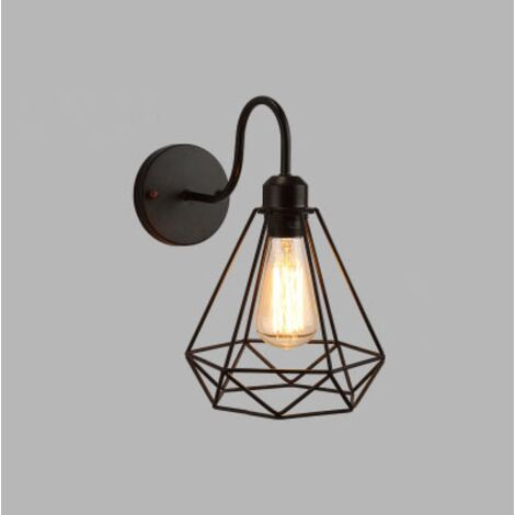 Retro Wall Light Industrial Style Wrought Iron Applique Personality Restaurant Bar Stairway Alley Balcony Outdoor Wall Lamp Wall-A-Style