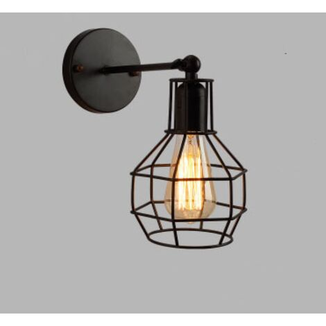 Retro Wall Light Industrial Style Wrought Iron Applique Personality Restaurant Bar Stairway Alley Balcony Outdoor Wall Lamp Wall-B style