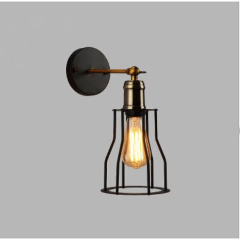 Retro Wall Light Industrial Style Wrought Iron Applique Personality Restaurant Bar Stairway Alley Balcony Outdoor Wall Lamp Wall-C style