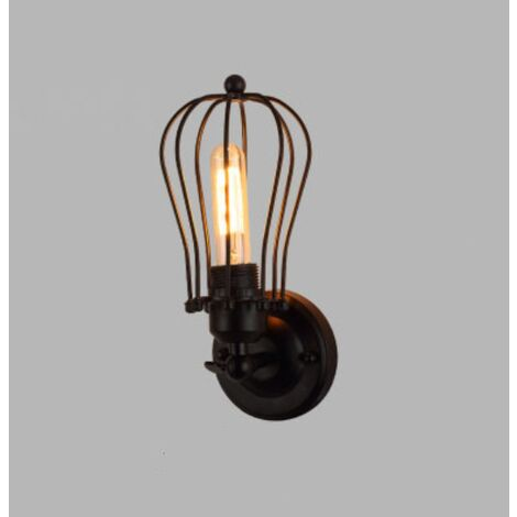 Retro Wall Light Industrial Style Wrought Iron Applique Personality Restaurant Bar Stairway Alley Balcony Outdoor Wall Lamp Wall-N Style