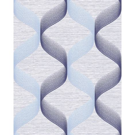 Retro wallpaper wall EDEM 1034-12 vinyl wallpaper textured with graphical pattern glittering blue light-blue violet-blue 5.33 m2 (57 ft2)