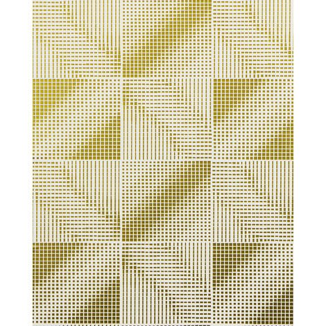 Retro wallpaper wall EDEM 85071BR31 wallpaper slightly textured with abstract pattern and metallic highlights white gold bronze 5.33 m2 (57 ft2)