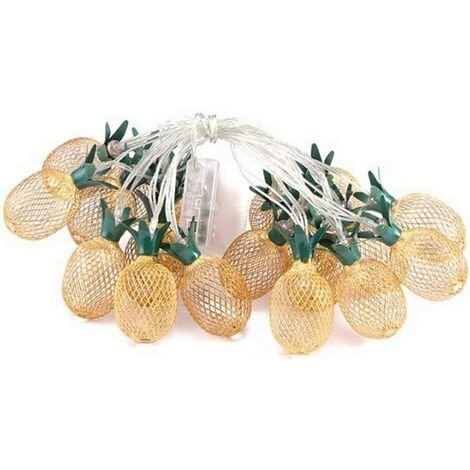 """main image of """"Retro wrought iron pineapple lamp decoration light powered by USB"""""""