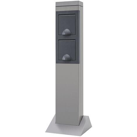 REV Colonne en aluminium pour l'extérieur avec 2 prises