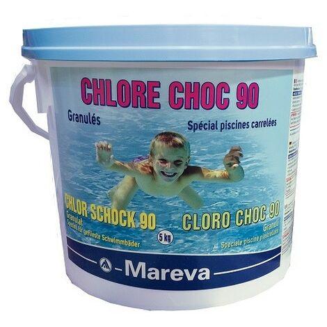 Reva-Klor choc - Granulés - 5 kg de Mareva - Chlore, oxygène actif, brome