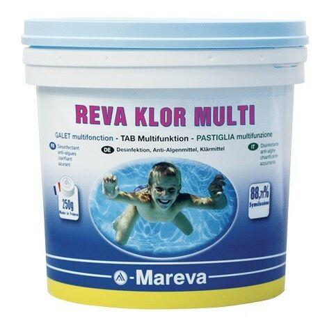 Reva Klor multi - Galet 250g - 5 kg de Mareva - Produits chimiques