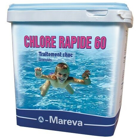 Reva-Klor rapide - 5 kg de Mareva - Chlore, oxygène actif, brome