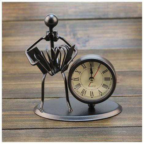 Réveil personnalisé en acier inoxydable petit montres et horloges Boutique Cadeaux