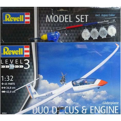 Revell Modellbausatz Glinderplane Duo Discus & Engine Modellflugzeug Maßstab 1:32 03961