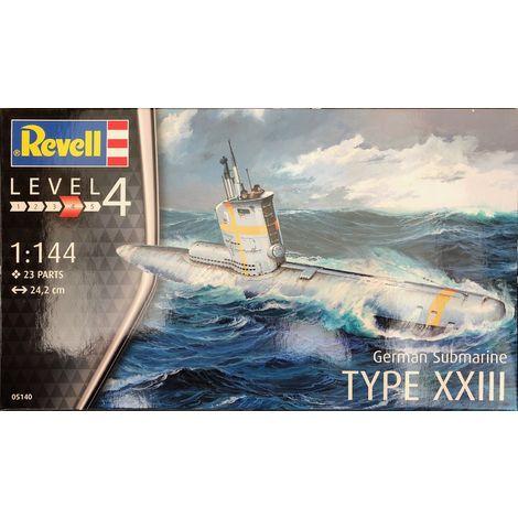 Revell Modellbausatz Schiff German Submarine Type XXIII im Maßstab 1:144, Level 4, Nr.: 05140
