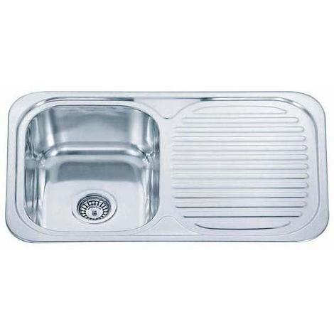 Reversible 1.0 Bowl Stainless Steel Kitchen Sink & Drainer & Waste Kit (B04 mr)