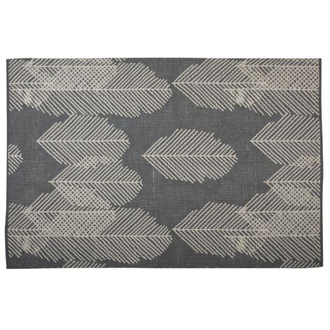 Reversible Area Rug 160 x 230 cm Grey and Beige MEZRA