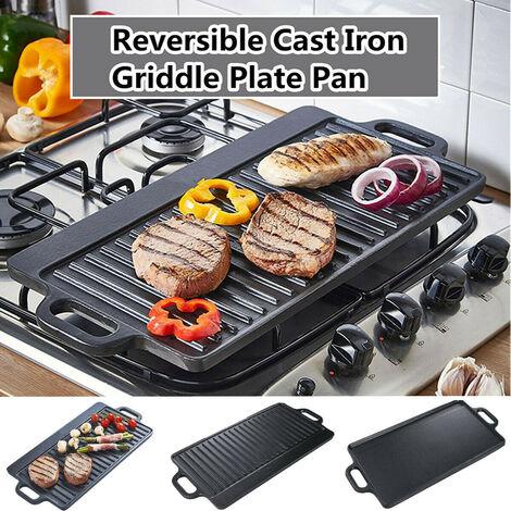 Reversible Cast Iron Frying Pan Nonstick BBQ Frying Pan
