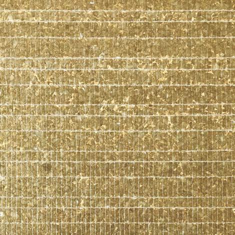 Revestimiento de pared concha WallFace CSA07-4 CAPIZ papel pintado no tejido hecho a mano con conchas reales de Capiz óptica de nácar dorado marrón 9,80 m2 rollo